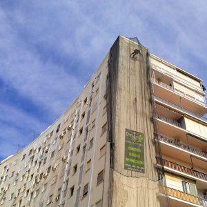 Trabajos verticales Dalí. Arreglos en fachada.