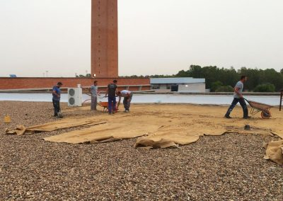Trabajos verticales Dalí. Impermeabilización de cubierta.