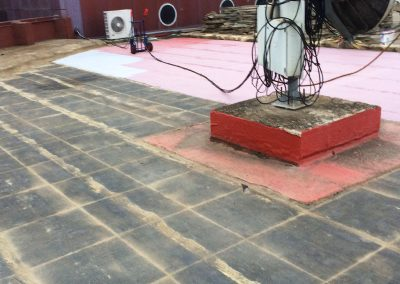 Trabajos verticales Dalí. Impermeabilizacion con tela asfaltica.